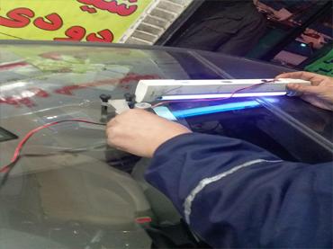 تعمیر شیشه ماشین توسط دستگاه مخصوص