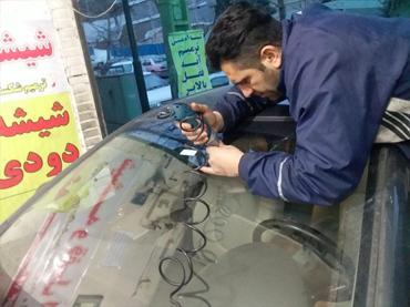 تعمیر ترک شیشه ماشین